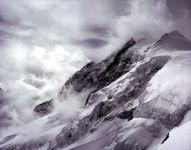 aletschhorn v mracích